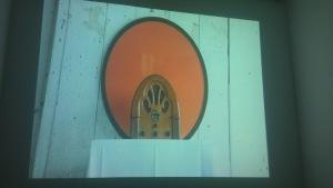 still shot from Magz Hall's film concerning radio art