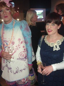 Grayson Perry & the Curious Curator (Kate Eleanor Ross) at the University of the Arts, London Benefactors' Reception, December 2012