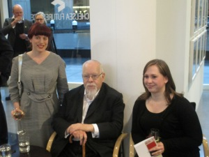 Sir Peter Blake and I with my CHELSEA space colleague Daisy McMullan