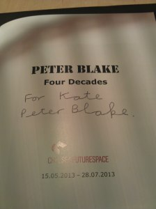 Sir Peter Blake signs publication
