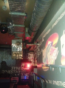 projected visuals for SYNESTHESIA I at Notting Hill Arts Club