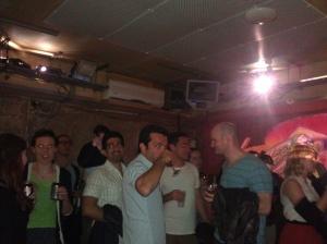 the crowd enjoying SYNESTHESIA I at Notting Hill Arts Club