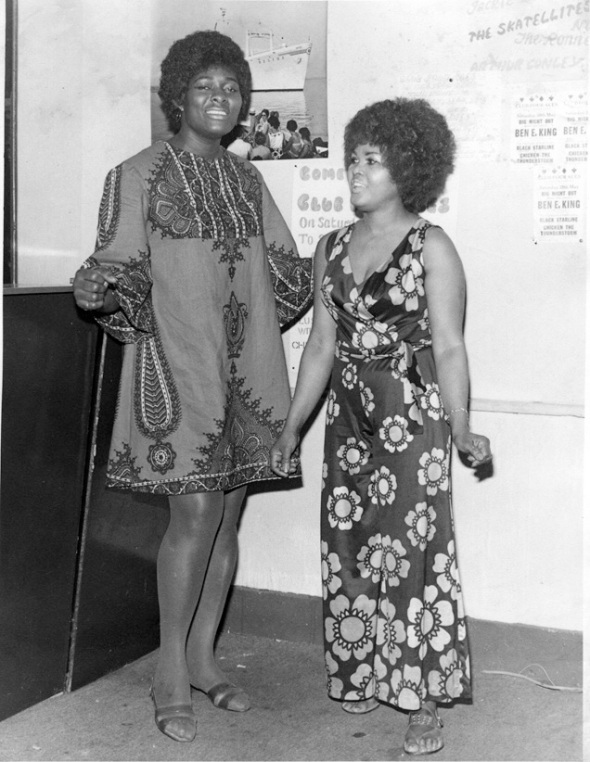 The Honeys In Traditional African outfits. Straight out of Ben E King's show at the Four Aces Club in 1969, timeless. Collection of Newton Dunbar, photographer unknown. Image from Winstan Whitter