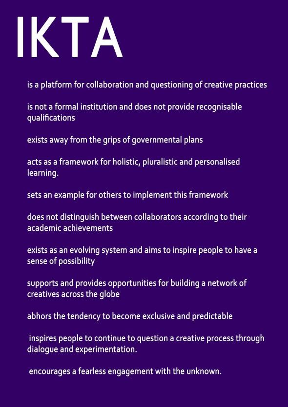 IKTA manifesto