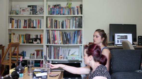 Victoria Trinder & Kate Ross during their IKTA live sound lab session