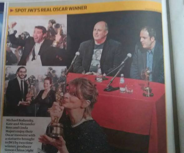 Jewish Chronicle includes pictures from JW3's Oscars Warm-Up Night