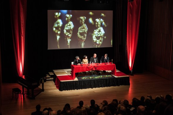 the panel of film industry speakers at JW3 London's Oscars Warm - Up Night. Photograph by Blake Ezra Photography