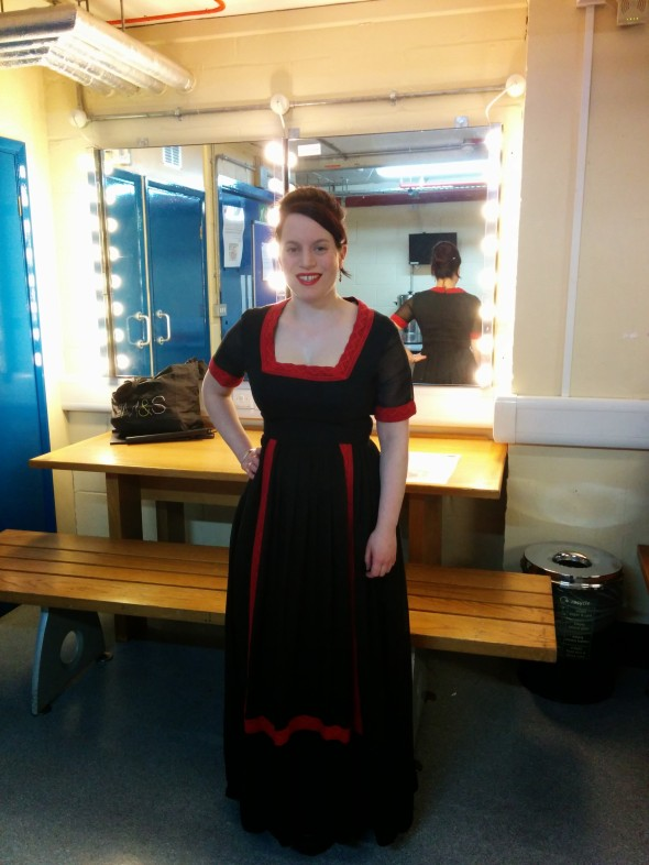 I decided to wear my mum's dress from 1969 (by KATI at Laura Phillips) which I thought was fitting for a 1970s revival show!
