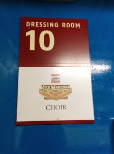 our dressing room
