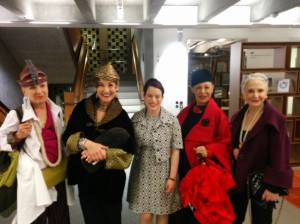 Kate Ross with four of the Advanced Style ladies